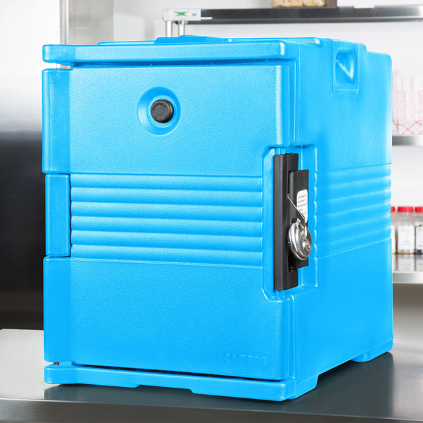 Cambro UPC400SP159 Camcarrier Cold Blue Pan Carrier with Security Package