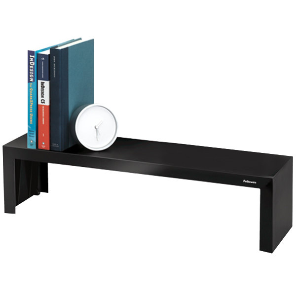 "Fellowes 8038801 Designer Suites 26"" x 7"" Black Pearl Shelf"
