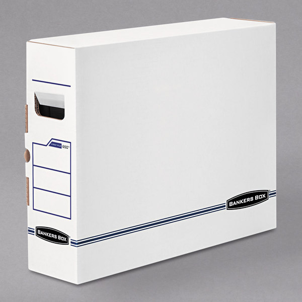 "Fellowes 00650 Banker's Box 5"" x 19 3/4"" x 14 7/8"" X-Ray Storage Box with Tab Lock - 6/Case Main Image 1"