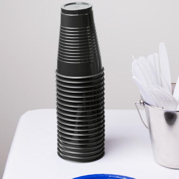 Dart Solo PS12E 12 oz. Black Plastic Cup - 1000/Case
