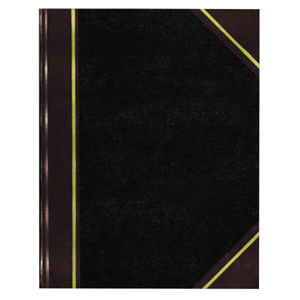 "National 56231 Texthide 10 3/8"" x 8 3/8"" Black / Burgundy Record Book - 300 Pages Main Image 1"