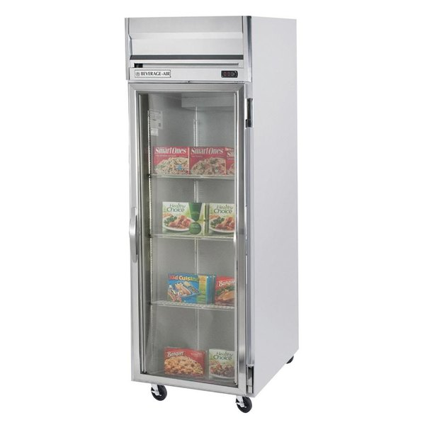 "Beverage-Air HBF23-1-G-LED Horizon Series 27"" Glass Door Reach-In Freezer with LED Lighting"