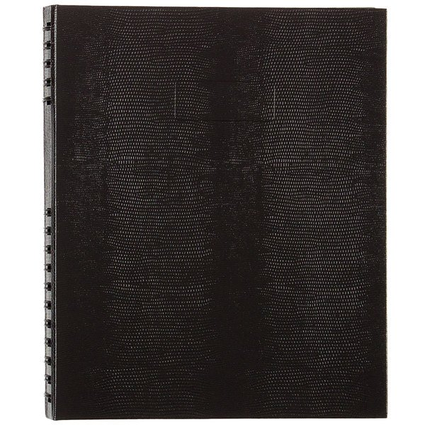 """Blueline A10300BLK NotePro Wirebound Black 11"""" x 8 1/2"""" College Ruled Notebook - 150 Sheets Main Image 1"""