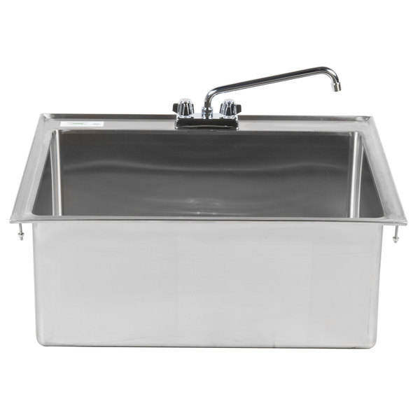 Regency 28 X 20 12 16 Gauge Stainless Steel One Compartment Drop In Sink With