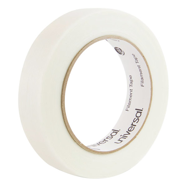 "Universal UNV30024 1"" x 60 Yards Clear 110# Utility Grade Filament Tape"