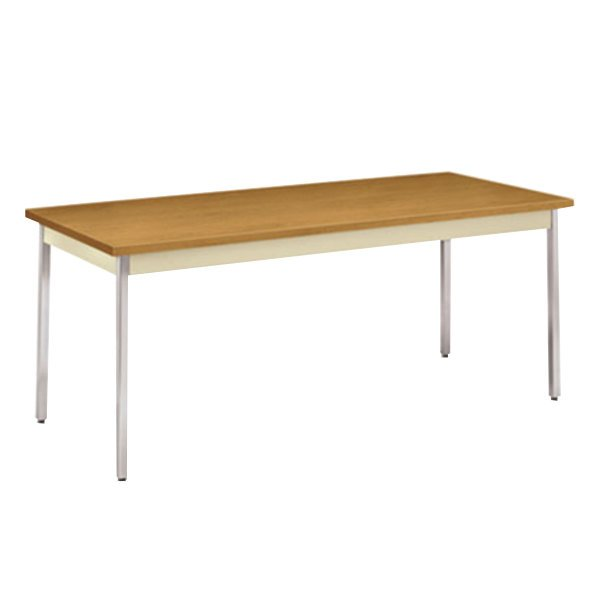 """HON UTM3072CLCHR 30"""" x 72"""" Harvest / Putty Utility Table - 29"""" Height"""