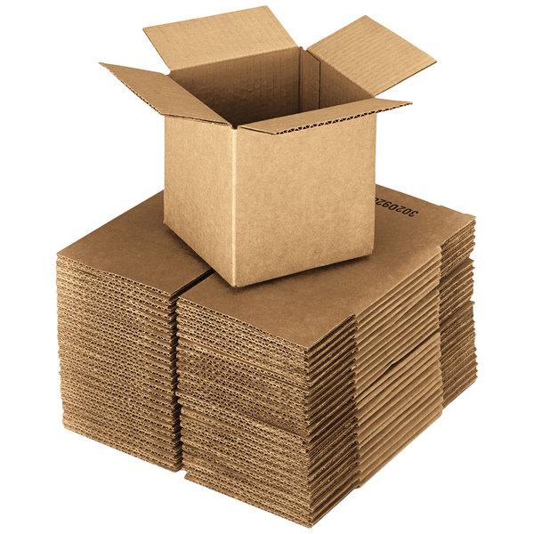 "18"" x 18"" x 18"" Kraft Shipping Box - 20/Bundle Main Image 1"
