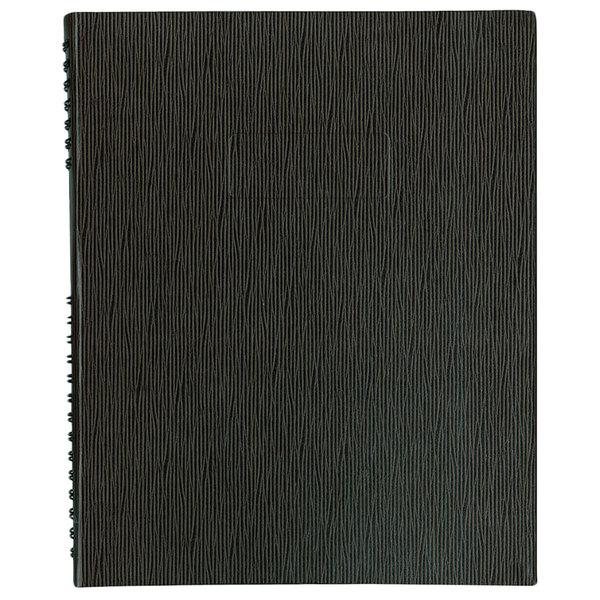 "Blueline A10200EBLK NotePro Wirebound Black 11"" x 8 1/2"" College Ruled Executive Notebook - 100 Sheets Main Image 1"