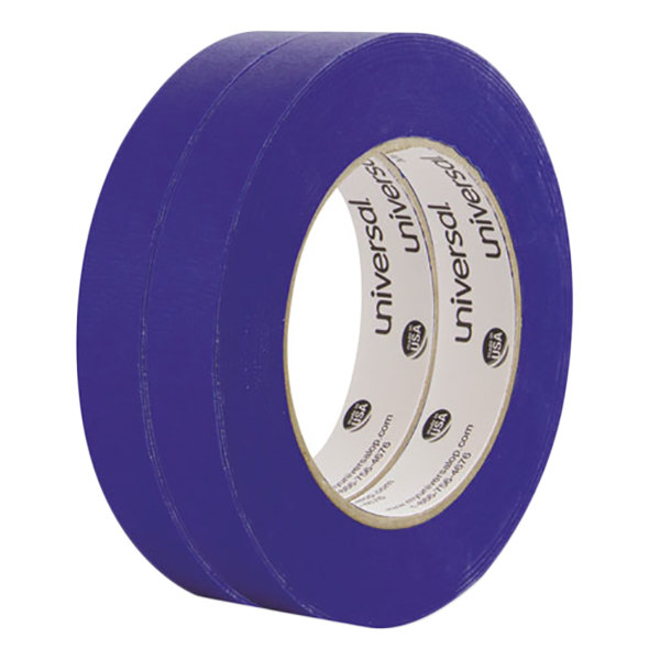 "Universal UNVPT14019 3/4"" x 59.9 Yards Premium Blue Masking Tape - 2/Pack"