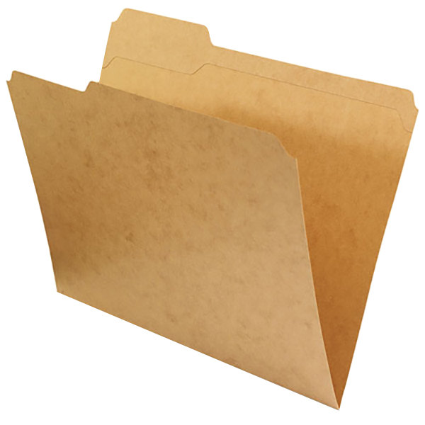 Universal UNV16133 Letter Size File Folder - Standard Height with Reinforced 1/3 Cut Assorted Tab, Kraft - 100/Box