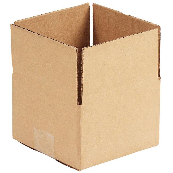 "6"" x 6"" x 4"" Kraft Shipping Box - 25/Bundle"