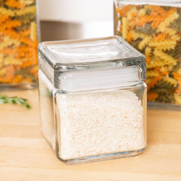 9a5a7255777 Anchor Hocking 85587R 1 Qt. Clear Stackable Square Glass Jar. ARKit Image.  Image Preview  Main Picture
