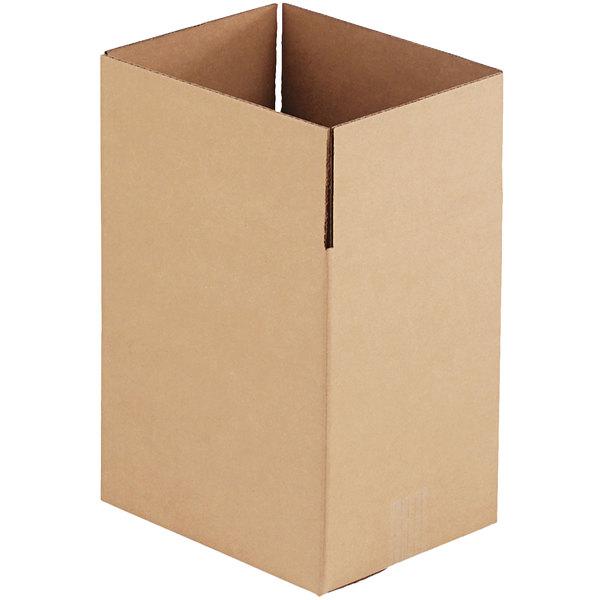 "11 1/4"" x 8 3/4"" x 12"" Kraft Shipping Box - 25/Bundle Main Image 1"