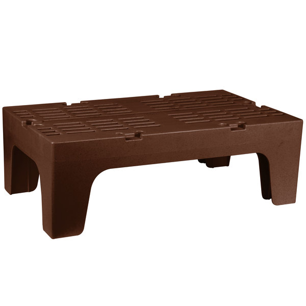 """Cambro DRS360131 S-Series 36"""" x 21"""" x 12"""" Brown Slotted Top Bow Tie Dunnage Rack - 1500 lb. Capacity Main Image 1"""