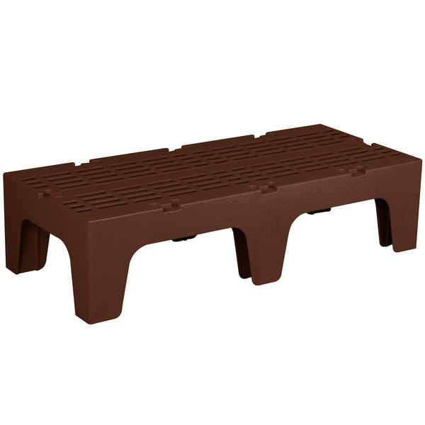 """Cambro DRS480131 S-Series 48"""" x 21"""" x 12"""" Brown Slotted Top Bow Tie Dunnage Rack - 3000 lb. Capacity"""