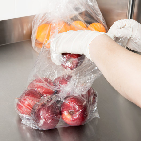 "Inteplast Group PB080418R 8"" x 4"" x 18"" Plastic Food Bag - 1000/Case Main Image 3"