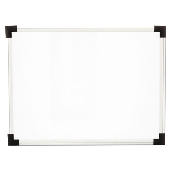 "Universal UNV43722 24"" x 18"" White Melamine Dry-Erase Board with Aluminum Frame"
