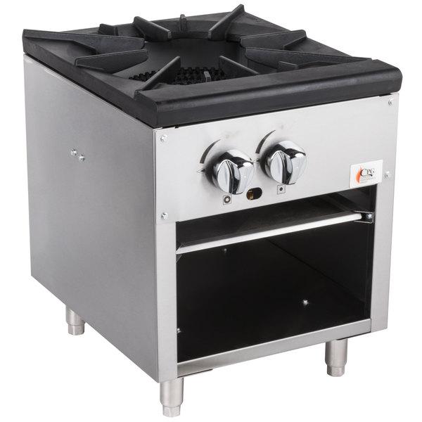 Cooking Performance Group CPG-SPR-18-L Liquid Propane Stock Pot Range - 80,000 BTU