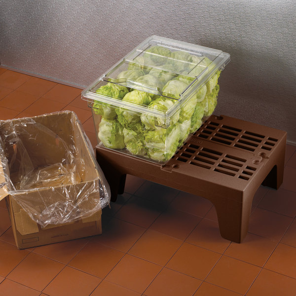 """Cambro DRS300131 S-Series 30"""" x 21"""" x 12"""" Brown Slotted Top Bow Tie Dunnage Rack - 1500 lb. Capacity Main Image 3"""