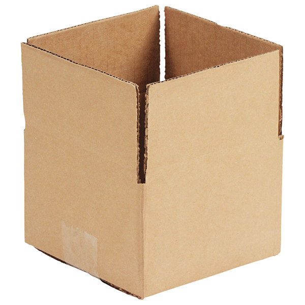 "12"" x 12"" x 8"" Kraft Shipping Box - 25/Bundle"