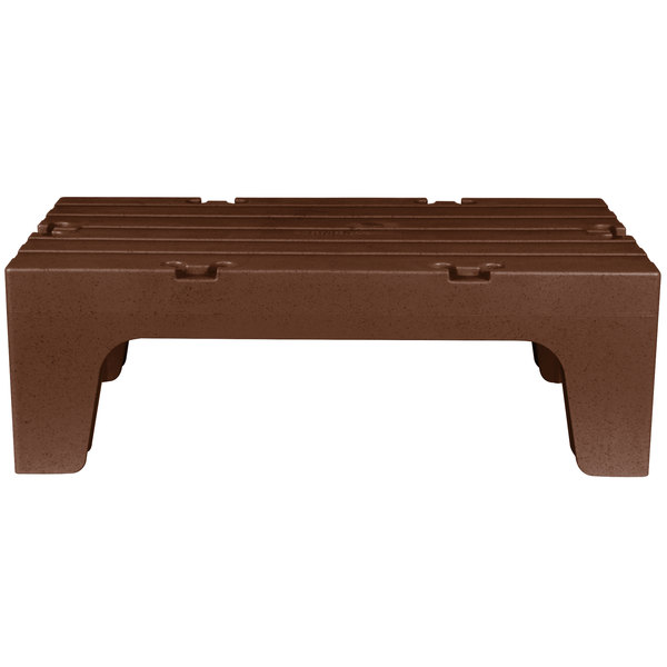"""Cambro DRS36131 Dark Brown 21/"""" x 36/"""" x 12/"""" Solid Top Dunnage Rack"""