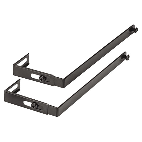 "Universal 08173 1 1/2"" x 1 1/4"" x 7"" Black Adjustable Cubicle Hanger - 2/Set Main Image 1"