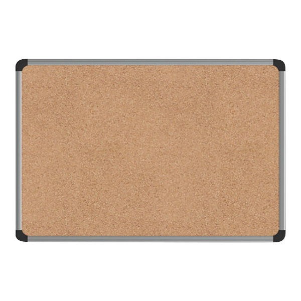 Universal Unv43712 24 X 18 Cork Board With Aluminum Frame