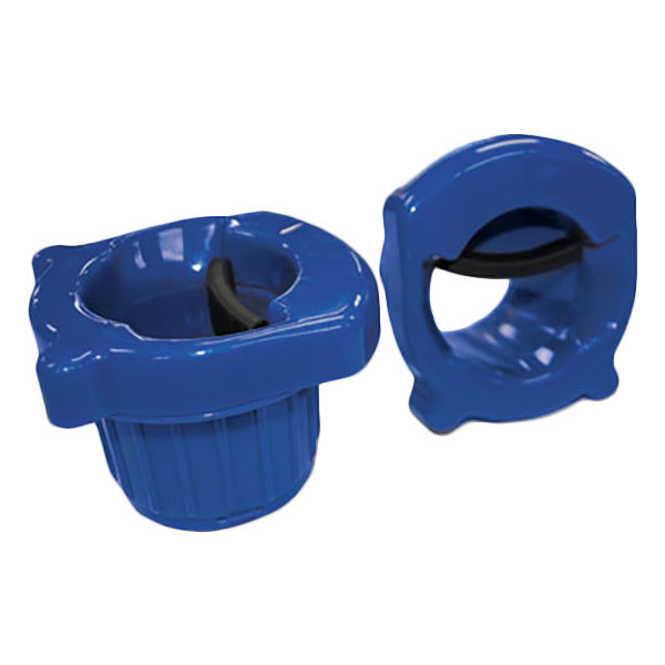 United Facility Supplies COREDISP1 Blue Hand Core Dispenser for Stretch Film Rolls - 2/Pack