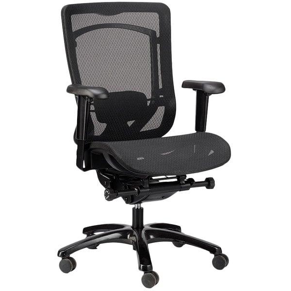 Eurotech Seating MMSY55 Monterey Black Mesh Syncro Tilt Office Chair Main Image 1