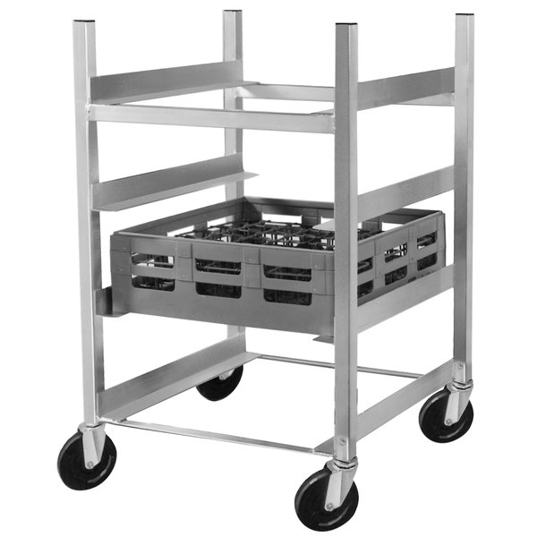 """Channel GRR-83 4 Shelf Glass Rack Cart with 8"""" Spacing"""