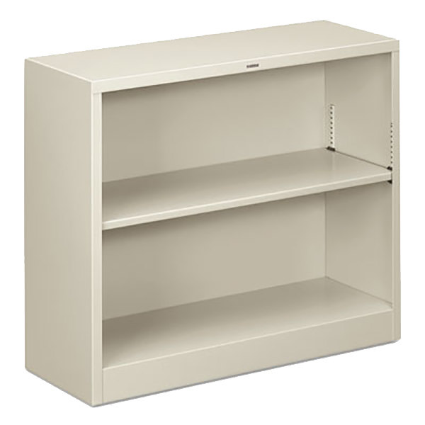 "HON S30ABCQ Light Gray 2 Shelf Metal Bookcase - 34 1/2"" x 12 5/8"" x 29"" Main Image 1"
