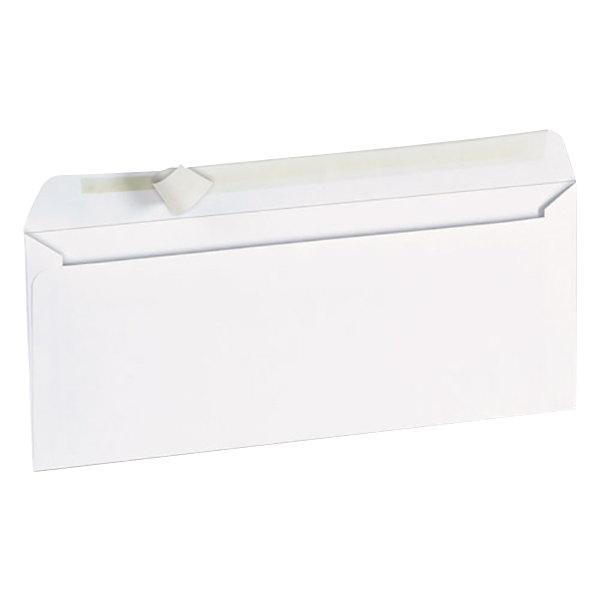 "Universal UNV36002 #10 4 1/8"" x 9 1/2"" White Side Seam Business Envelope with Peel Seal Adhesive Strip - 100/Box Main Image 1"