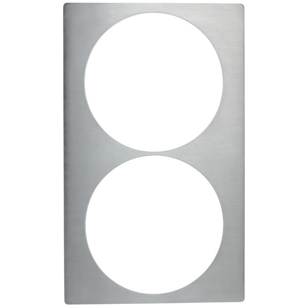 Vollrath 8242514 Miramar Stainless Steel Adapter Plate for Two Large Casserole Pans