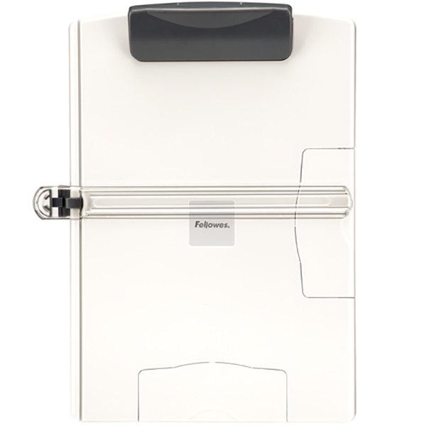 "Fellowes 21126 9 1/8"" x 8"" x 12 3/4"" Platinum / Gray 150 Sheet Easel-Style Plastic Desktop Copyholder Main Image 1"