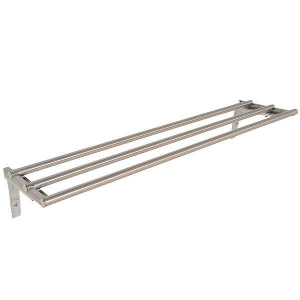 "Eagle Group TSL-DB-HT3 48"" x 10 1/2"" Stainless Steel Tubular Tray Slide with Drop Brackets Main Image 1"