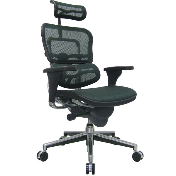Eurotech Seating Me7erg Km14 Ergohuman Green Mesh High Back Swivel Office Chair