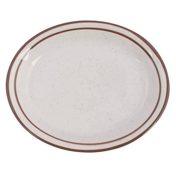 Tuxton Tbs 041 Bahamas 8 1 2 X 6 7 8 Brown Speckle Narrow Rim China Platter 36 Case