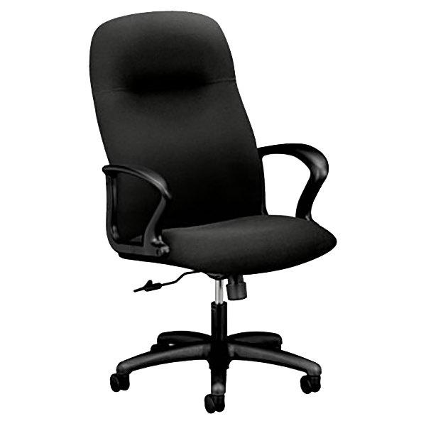 Hon 2071cu10t Gamut Black Executive High Back Polyester
