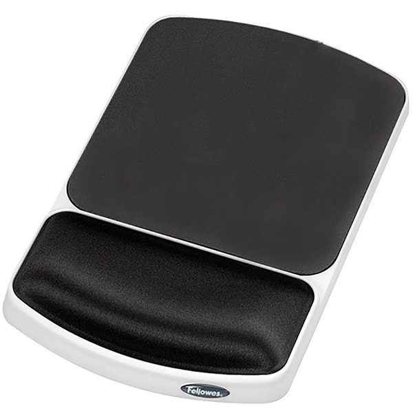 Fellowes 91741 Platinum / Graphite Gel Mouse Pad with Wrist Support Main Image 1