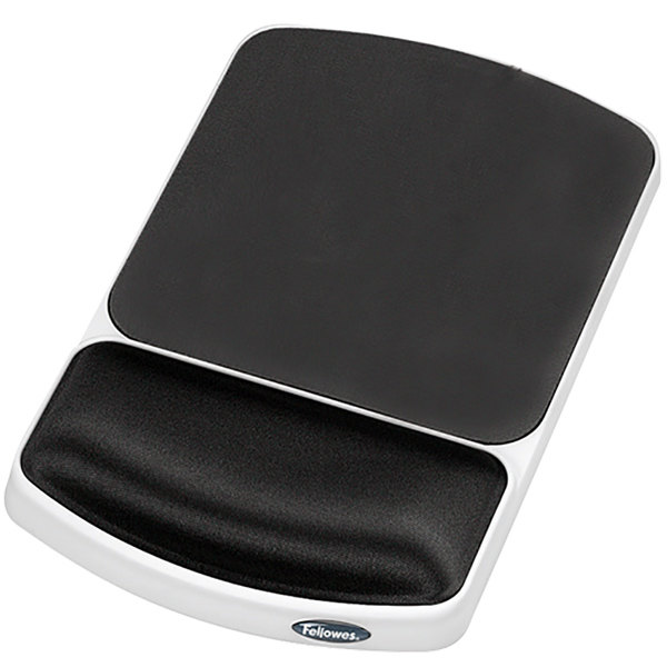 Fellowes 91741 Platinum / Graphite Gel Mouse Pad with Wrist Support