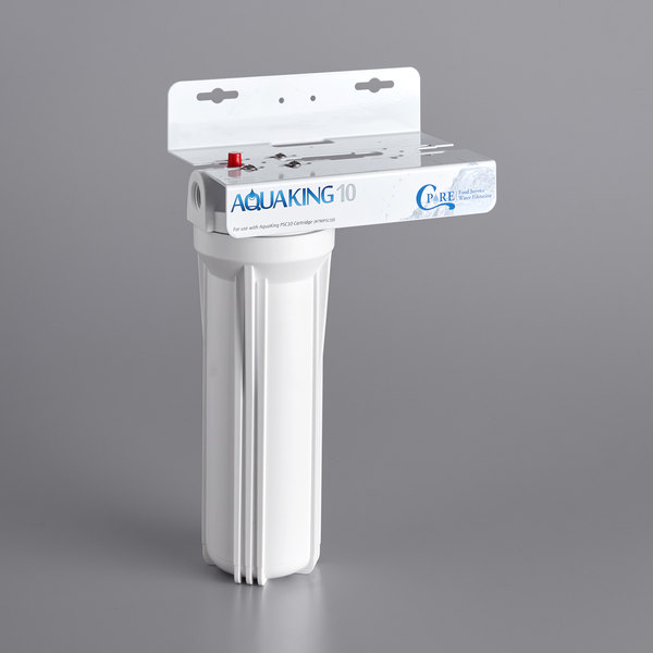 """C Pure AQUAKING10 10"""" Single Cartridge Water Filtration System - 25 Micron Rating and 3 GPM Main Image 1"""