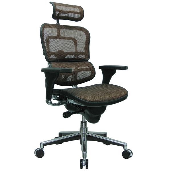 Eurotech Seating Me7erg Km13 Ergohuman Orange Mesh High Back Swivel Office Chair