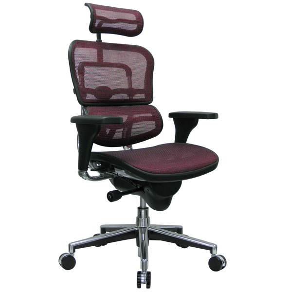 Eurotech Seating ME7ERG KM12 Ergohuman Plum Mesh High Back Swivel Office Chair