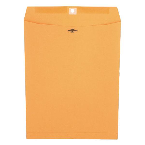 "Universal UNV44907 #97 10"" x 13"" Kraft Clasp / Gummed Seal File Envelope - 100/Box"