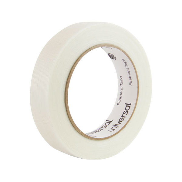 "Universal UNV78001 1"" x 60 Yards Clear 165# Filament Tape"