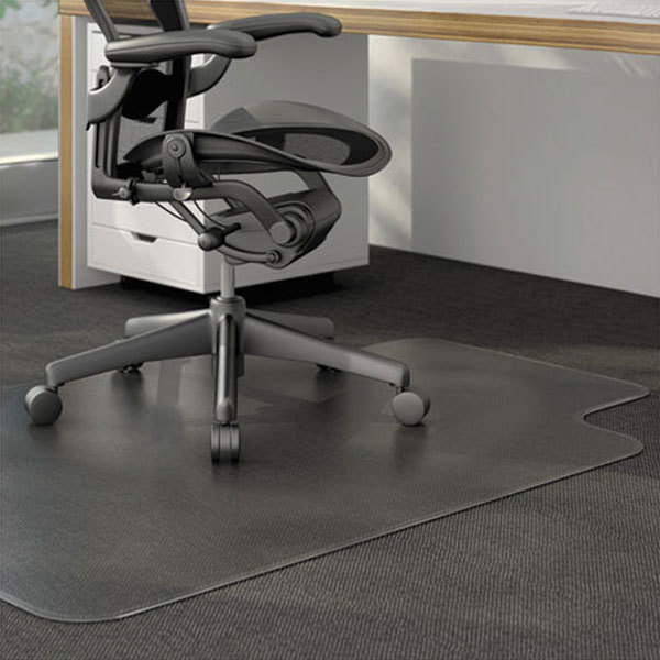 Universal Alemat4553clpl 53 X 45 Clear Cleated Low Pile Carpet Office Chair Mat With 25