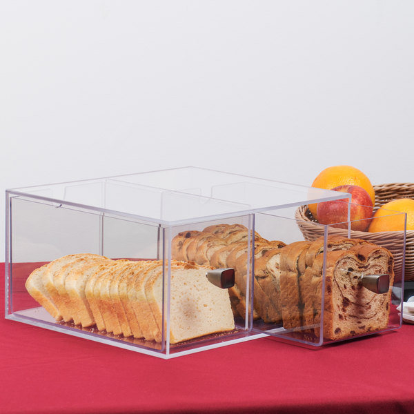 "Cal-Mil 1480 Eco Modern Two Drawer Acrylic Bread Box for 1279 Bread Case - 12"" x 12"" x 6"""