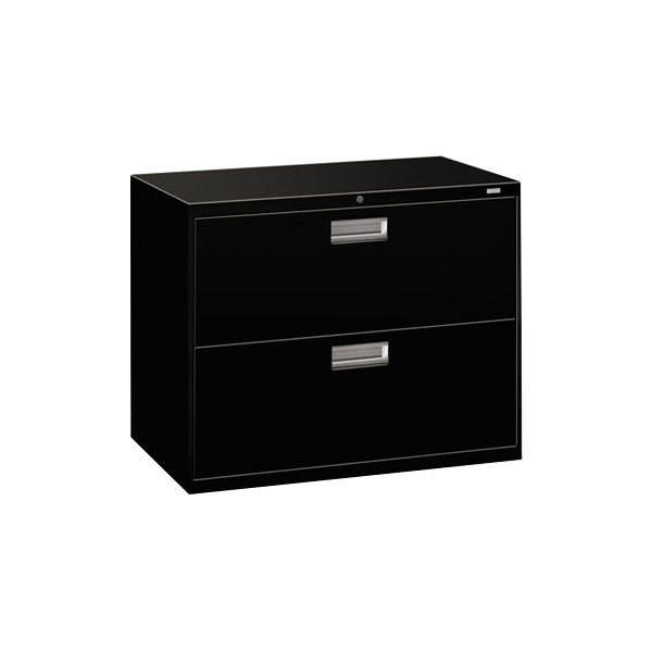 hon vertical file cabinet hon 682lp 600 series black two drawer lateral filing 16595
