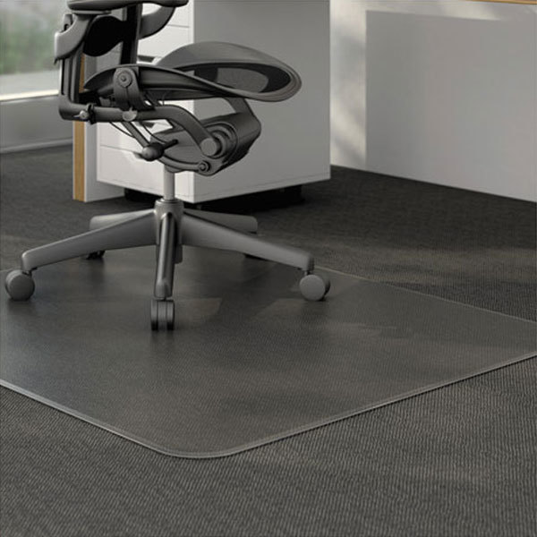 Universal Alemat4660clpr 60 Inch X 46 Clear Cleated Low Pile Carpet Office Chair Mat