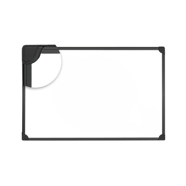 "Universal UNV43026 Design Series 48"" x 36"" White Magnetic Steel Dry-Erase Board"